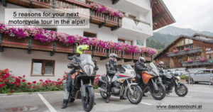motorcycle holiday in the alps